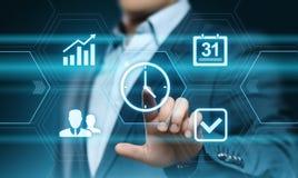 Conceito do Internet da tecnologia do negócio dos objetivos da estratégia da eficiência do projeto da gestão de tempo fotografia de stock royalty free