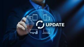 Conceito do Internet da tecnologia do negócio da elevação do programa informático do software da atualização ilustração stock