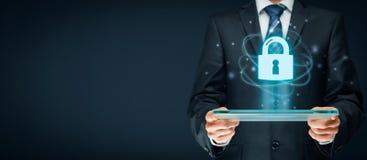 Conceito do Internet de Cybersecurity Fotos de Stock