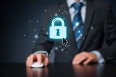 Conceito do Internet de Cybersecurity Foto de Stock Royalty Free
