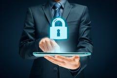 Conceito do Internet de Cybersecurity Foto de Stock