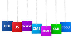 Conceito do Internet de Webdesign Imagens de Stock Royalty Free