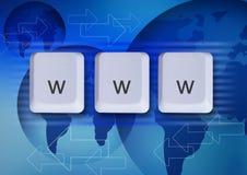 Conceito do Internet de WWW Imagens de Stock