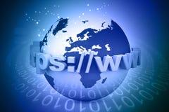 Conceito do Internet do globo Imagens de Stock