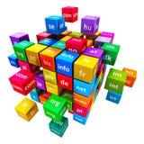 Conceito do Internet e dos Domain Name Imagens de Stock