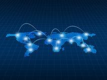 Conceito do Internet do negócio global, símbolos da conexão communic Fotos de Stock