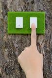 Conceito do interruptor de Eco fotos de stock