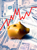 Conceito do investimento de banco Piggy Fotos de Stock Royalty Free