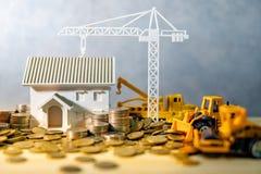 Conceito do investimento empresarial da indústria da construção civil foto de stock royalty free