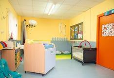 Conceito do jardim de infância Ideia interior da sala dos babys imagem de stock royalty free