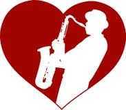 Conceito do jazz do amor ilustração royalty free
