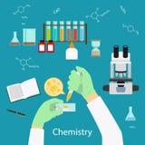 Conceito do laboratório de química ilustração royalty free