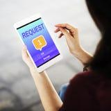 Conceito do lembrete do alerta da notificação de uma comunicação da mensagem fotografia de stock royalty free