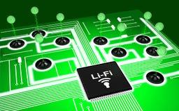 Conceito do Li-Fi da placa de circuito Imagens de Stock