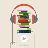 Conceito do livro audio Imagens de Stock