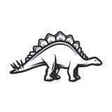 Conceito do logotipo de Dino do vetor Projeto das insígnias do Stegosaurus Ilustração jurássico do dinossauro Conceito do t-shirt Fotos de Stock Royalty Free