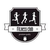 Conceito do logotipo do vintage do fitness center Imagens de Stock