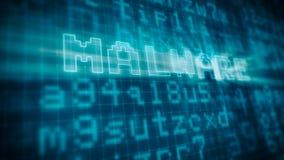 Conceito do malware do computador ilustração do vetor
