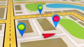 Conceito do mapa da navegação Fotografia de Stock