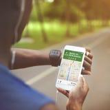 Conceito do mapa de lugar dos sentidos da navegação de GPS Imagem de Stock
