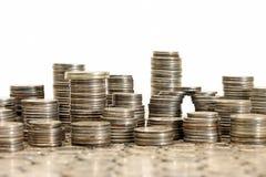 Conceito do materialismo - cidade feita das moedas Imagens de Stock Royalty Free