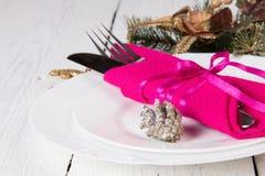 Conceito do menu do Natal Fotos de Stock