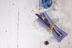 Conceito do menu do Natal Foto de Stock