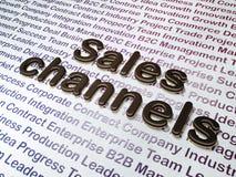 Conceito do mercado:  Canais de vendas no fundo do negócio Foto de Stock