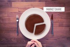 Conceito do mercado da parte de mercado Imagem de Stock Royalty Free