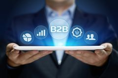 Conceito do mercado da tecnologia do comércio de B2B Negócio Empresa fotos de stock