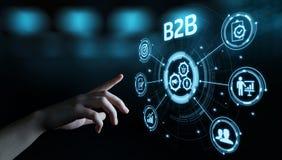 Conceito do mercado da tecnologia do comércio de B2B Negócio Empresa fotografia de stock royalty free