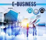 Conceito do mercado de Digitas do negócio global do comércio eletrónico Fotografia de Stock Royalty Free
