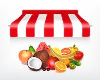 Conceito do mercado de frutos ilustração royalty free