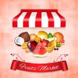 Conceito do mercado de frutos ilustração stock