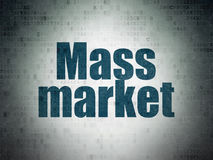 Conceito do mercado: Mercado de massas no fundo do papel dos dados de Digitas Fotografia de Stock Royalty Free
