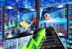 Conceito do mercado de valores de ação ilustração do vetor