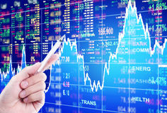 Conceito do mercado de valores de ação Fotografia de Stock Royalty Free