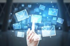 Conceito do mercado do email foto de stock