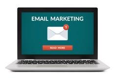 Conceito do mercado do email na tela de laptop fotografia de stock royalty free