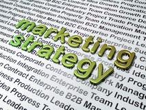 Conceito do mercado:  Estratégia de marketing no fundo do negócio Fotografia de Stock Royalty Free
