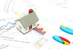 Conceito do mercado imobiliário imagens de stock