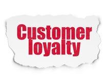 Conceito do mercado: Lealdade do cliente no fundo de papel rasgado ilustração royalty free