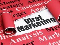 Conceito do mercado: mercado viral do texto preto sob a parte de papel rasgado Imagens de Stock Royalty Free