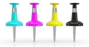 Conceito do modelo de cor do cmyk Imagem de Stock Royalty Free