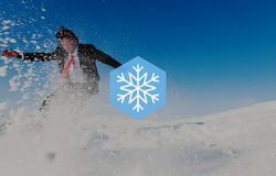 Conceito do Natal do blizzard do floco de neve do inverno da neve ilustração do vetor