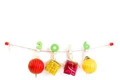 Conceito do Natal, fundo abstrato pelo ano novo feliz 2016 Foto de Stock Royalty Free