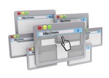 Conceito do navegador - 3D Foto de Stock Royalty Free