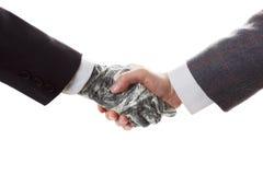 Conceito do negócio - aperto de mão, conclusão da transação Fotos de Stock Royalty Free