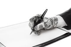 Conceito do negócio - a assinatura do acordo e do investimento partida Imagem de Stock Royalty Free