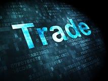 Conceito do negócio: Comércio no fundo digital Fotografia de Stock Royalty Free
